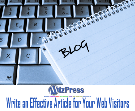 how to write articles for websites